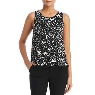 Three Dots Women's Palm Print Short Loose Tank