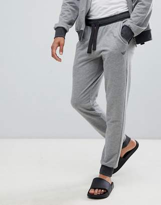 Emporio Armani EA logo sweat joggers in gray