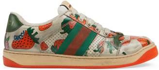 Gucci Women's Screener Strawberry sneaker