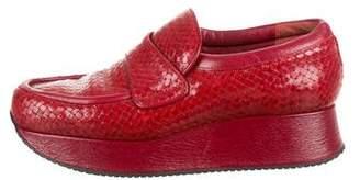 Stephane Kelian Woven Platform Loafers