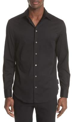 Emporio Armani Slim Fit Solid Dress Shirt