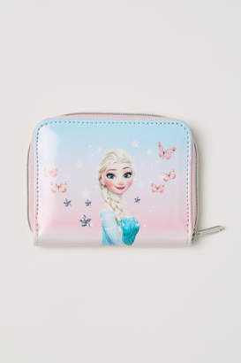 H&M Glittery Printed Wallet - Pink