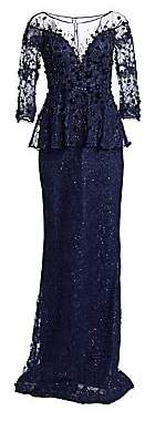 Teri Jon by Rickie Freeman Women's Embellished Lace Gown