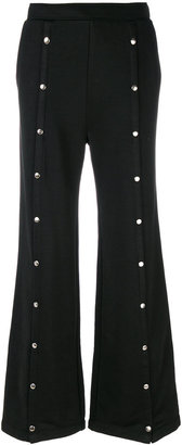 studded flared trousers