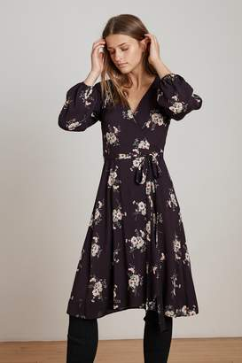 Velvet by Graham & Spencer POMONA FLORAL PRINTED CHALLIS WRAP DRESS
