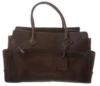 Reed Krakoff Pebbled Leather Satchel Brown Pebbled Leather Satchel