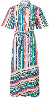 Parker Chinti & wavy striped shirt dress