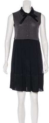 Philosophy di Alberta Ferretti Silk Sleeveless Dress
