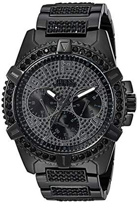 GUESS Men's Stainless Steel Crystal Watch
