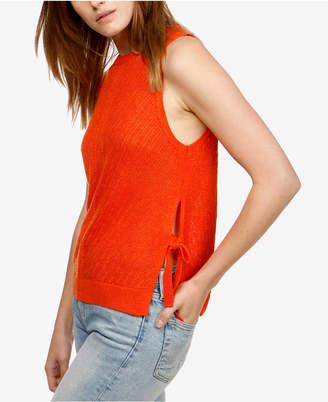 Lucky Brand Sleeveless Side-Tie Sweater