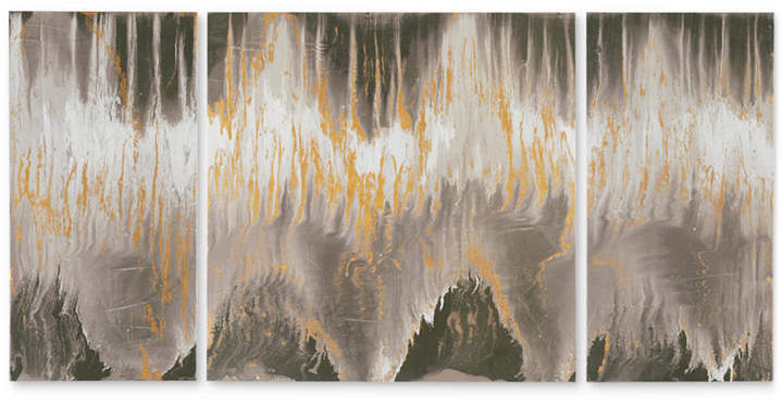 Jla Home Ink+Ivy 'Relevance' Gel-Coated 3-Pc. Canvas Wall Art Set with Gold Foil Embellishment