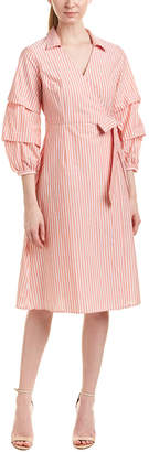 Flying Tomato Jealous Tomato Striped Wrap Dress