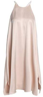 Halston Flared Satin Dress