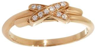Chaumet Lien de 18K Rose Gold & Diamonds Band Ring Size 4