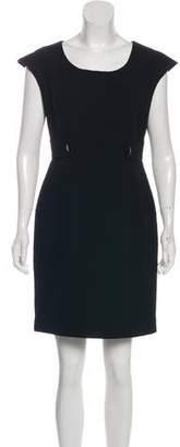 St. John Short Sleeve Mini Dress