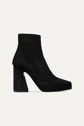 Proenza Schouler Suede Platform Ankle Boots - Black