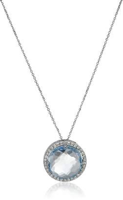 Suzanne Kalan Kalan by 14K White Gold, Topaz, and White Sapphire Pendant Necklace