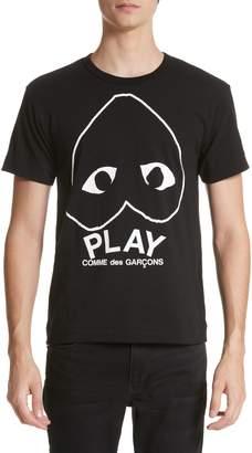 Comme des Garcons Inverted Heart Logo T-Shirt