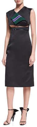 Calvin Klein Open-Front Sleeveless Sheath Dress