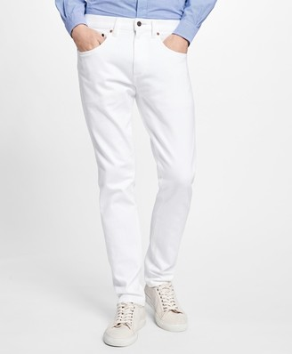 Brooks Brothers 116 Slim Fit White Denim Jeans