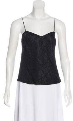 John Galliano Sleeveless Silk Top