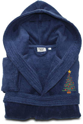 Asstd National Brand Linum Kids 100% Turkish Cotton Hooded Terry Bathrobe - Christmas Tree