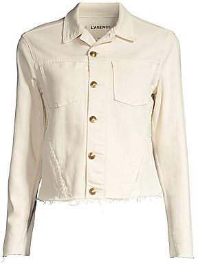 L'Agence Women's Janelle Slim-Fit Denim Jacket
