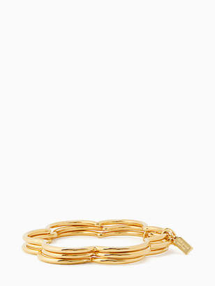 Kate Spade Scrunched scallops stackable bangle set