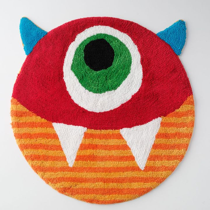 Jumping beans ® monster eyeball bath rug