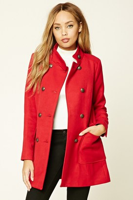FOREVER 21+ Padded Mock Neck Peacoat $54.90 thestylecure.com