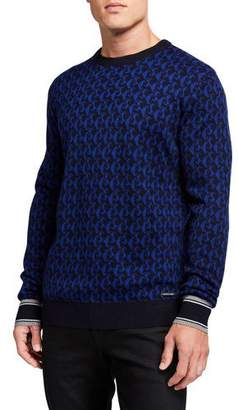 Scotch & Soda Men's Wool-Blend Jacquard Crewneck Sweater