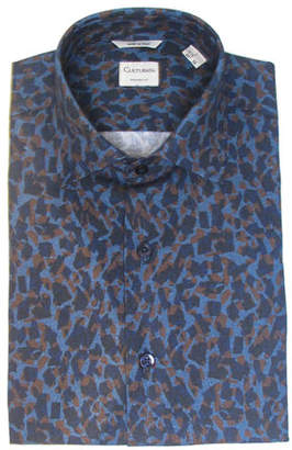 Culturata Men's Extra Soft Print Dress Shirt