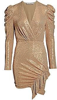IRO Women's Loulou Metallic Wrap Dress