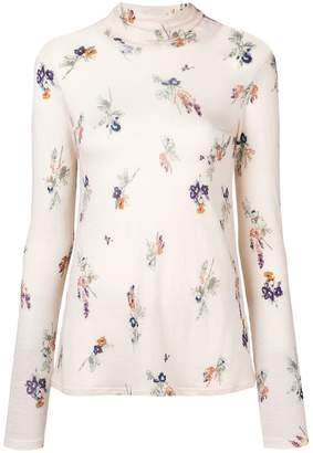 Forte Forte floral turtleneck top