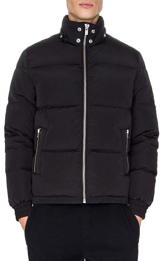 The Kooples Nylon and Leather Down Coat
