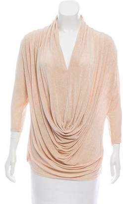 Alice + Olivia Draped Metallic Top