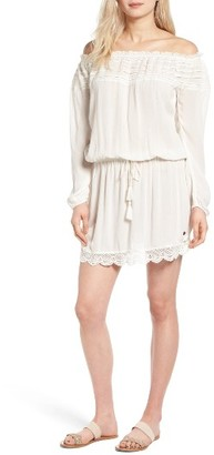 Women's Roxy Lace Trim Off The Shoulder Dress $54.50 thestylecure.com
