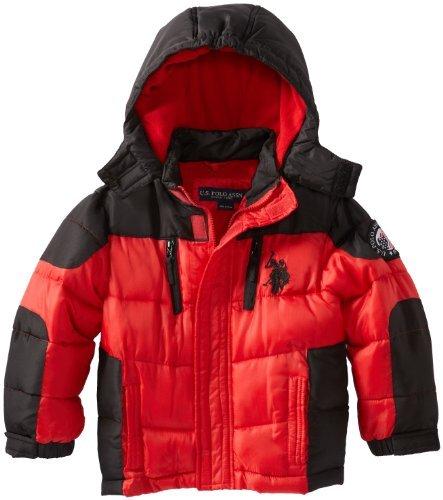 U.S. Polo Assn. U.S. Polo Association Little Boys' Color Block Puffer Jacket
