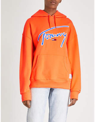 Tommy Jeans Signature cotton-jersey hoody