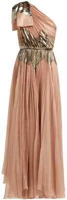 Maria Lucia Hohan Rasha pleated silk-blend gown