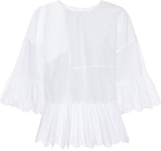 McQ Perforated cotton top