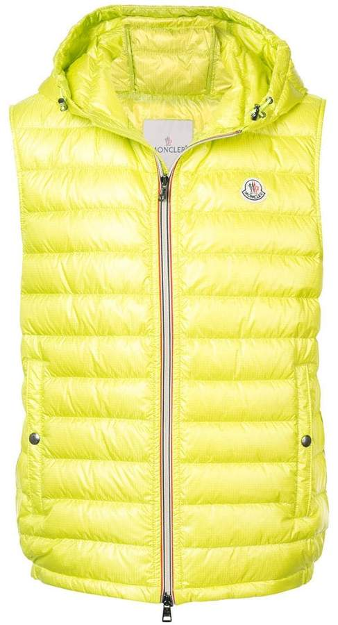 zipped padded gilet