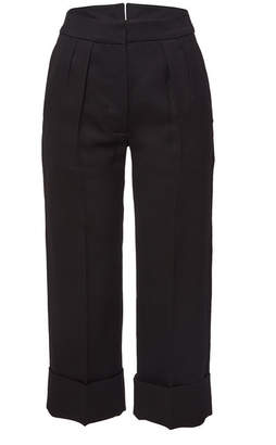 Burberry Wool Pants with Silk