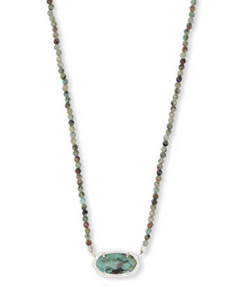 Kendra Scott Elisa Silver Beaded Pendant Necklace