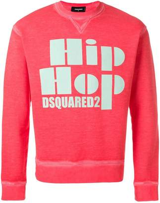DSQUARED2 Hip Hop print sweatshirt