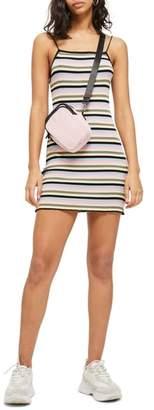 Topshop Candy Stripe Body-Con Minidress