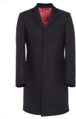 Osso London - Bosc Dark Navy British Wool Tailored Coat