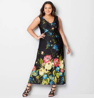 Avenue Floral Border Maxi Dress