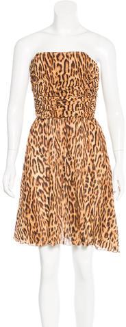 CelineCéline Leopard Print Silk Dress