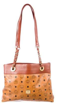 MCM Leather-Trimmed Visetos Tote
